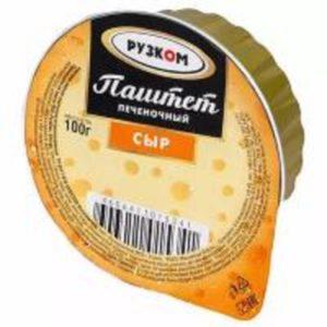 """Паштет """"Рузком"""" печеночный Сыр"""
