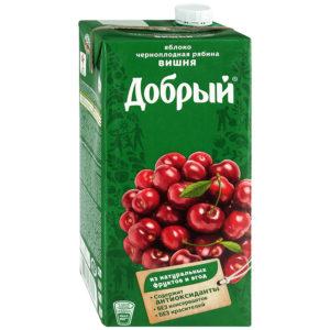 Яблоко/черноплодная рябина/вишня нектар