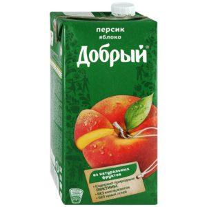 Добрый 2л Персик-яблоко нектар