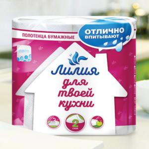 """Полотенца бумажные """"Лилия"""" 1/2шт"""