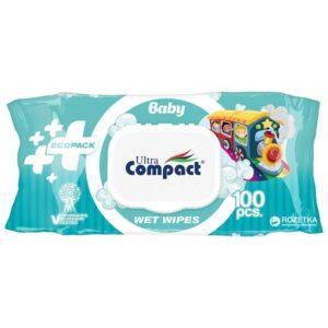 """Влажные салфетки """"Compact Ultra"""" детские 100шт"""