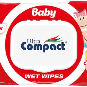 """Влажные салфетки """"Compact Ultra"""" детские 120шт"""