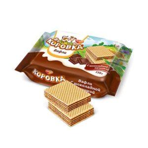 """Вафли """"Коровка"""" шоколад. начинка 150г"""
