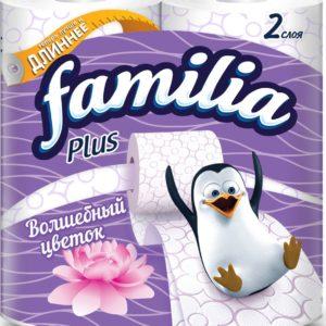Бумага Familia Plus Волшебный цветок 2сл.4рул.