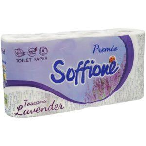 Бумага Soffione 3х сл.8рул. Лаванда
