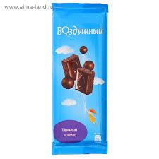 """Шоколад """"Воздушный"""" тёмный 85г"""
