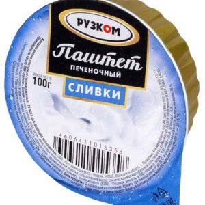 """Паштет """"Рузком"""" печеночный Сливки"""