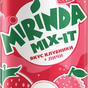 Миринда клубника-личи бан 0,33л