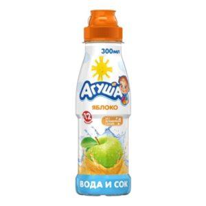 Агуша Вода и сок Яблоко 300мл