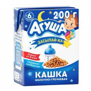 Агуша кашка молочно-гречневая 200мл Засыпай-ка
