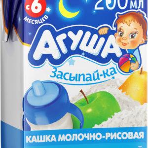 Агуша кашка молочно-рисовая Яблоко-груша 200мл Засыпай-ка