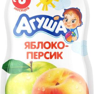 Агуша пюре фрукт.Яблоко-персик 90г