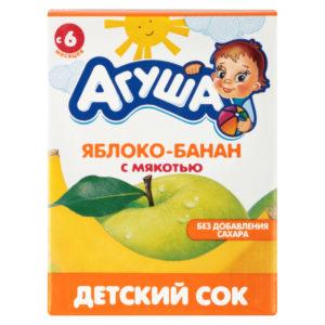 Агуша сок Яблоко-банан с мякотью 0,2л