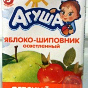 Агуша сок Яблоко-шиповник сок 0,2л