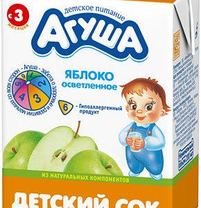 Агуша сок Яблочный отсветленный 0,2л