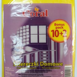 Салфетки домашние Coral 10+2шт