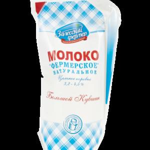 Молоко 3,2-4,5% 1250г кув. Залесский фермер БЗМЖ