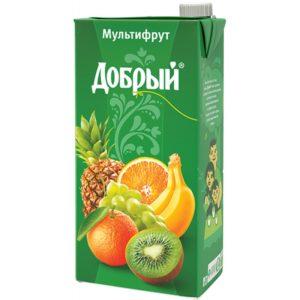 Добрый 2л Мультифрукт сок