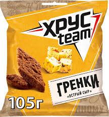 """Гренки """"Хрустим"""" 105г острый сыр"""