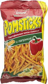 """Картофельные палочки """"Помстикс"""" паприка 100г"""
