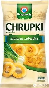 """Снеки кукурузные """"Chrupki"""" зел/лук 150г"""