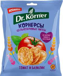 """Чипсы """"Корнерсы"""" томат/базилик 50г"""