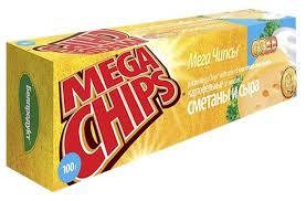 Чипсы Мега чипсы 100г сметана и сыр