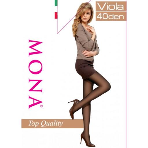 """Колготки """"Mоna"""" Viola 40ден №3 черные"""