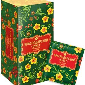 """Чай """"Краснодарский букет"""" зеленый с мятой"""