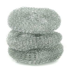 Мочалка д/посуды метал  Coral 3шт