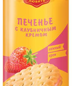 """Печенье """"Яшкино"""" Клубничный крем 182гр"""