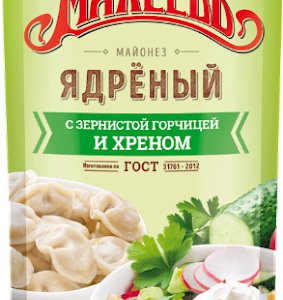 "Майонез ""Махеев"" Ядреный 380г д/п"