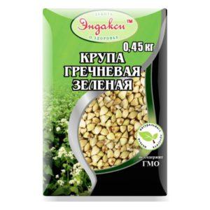 """Гречка зеленая """"Эндакси"""" 0,45кг."""
