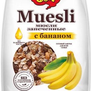 """Мюсли """"ОГО"""" запеченные банан 350г"""
