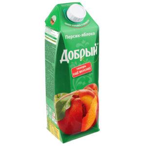 Добрый 1л Персик-яблоко нектар