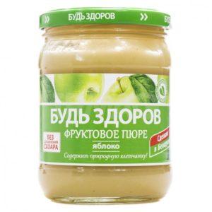 """Фруктовое пюре """"Будь Здоров"""" яблоко 450г"""