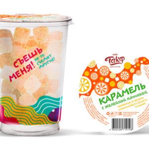"""Карамель """"С желейной начинкой"""" Апельсиновый йогурт в сахаре 330г"""