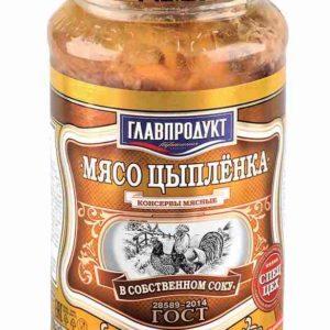 Мясо цыпленка в соб/соку 425г ст/б Главпродукт