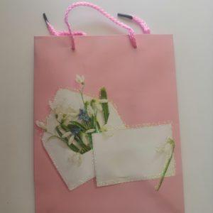 Пакет подарочный 18*23 цветы