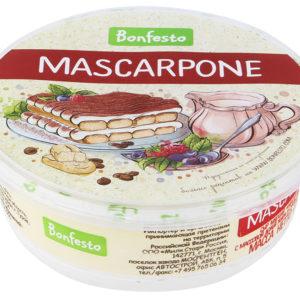 "Сыр ""Маскарпоне"" мягкий 250г Bonfesto"