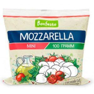 """Сыр """"Моцарелла"""" мягкий 45% 100г 12 шар.БЗМЖ"""
