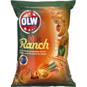 """Чипсы """"OLW"""" Горячее ранчо 175г"""