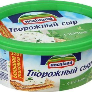 """Сыр """"Хохланд"""" творожный С зеленью 60% 220г БЗМЖ"""