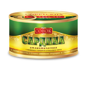 Сардина атлантическая в т/с с овощ.гарниром 250г Совок