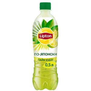 Холодный зеленый чай Липтон Лайм юдзу 0,5л