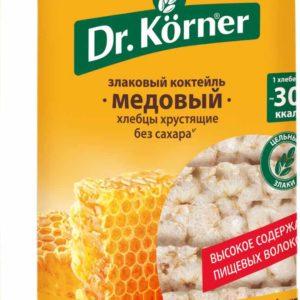 """Хлебцы """"Dr.Korner"""" 100г круг медовые"""