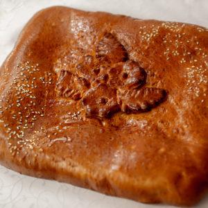 Пирог картофель/грибы вес.