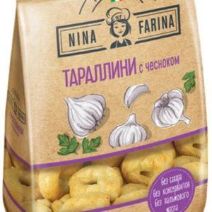 "Тараллини ""Nina Farina"" 180г чеснок"