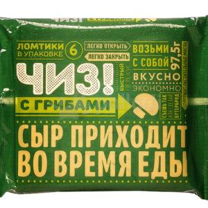 """Плавл.сыр """"Чиз"""" Грибы 97,5г в слайсах ЗМЖ"""