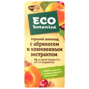 "Шоколад ""ECO botanica"" горький абрикос/клюква 90г"